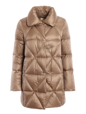 Fay: padded coats - Argyle quilted padded coat