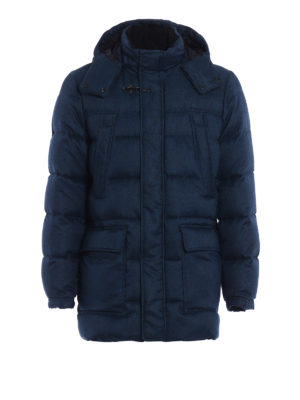 Fay: padded coats - Chevron hooded padded coat