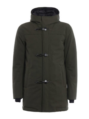 Fay: padded coats - Coated wool blend duffel coat