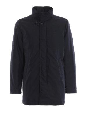 FAY: cappotti imbottiti - Cappotto imbottito in tessuto tecnico blu
