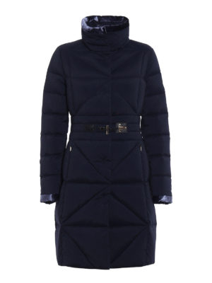 Fay: padded coats - Frog detail fitted padded coat