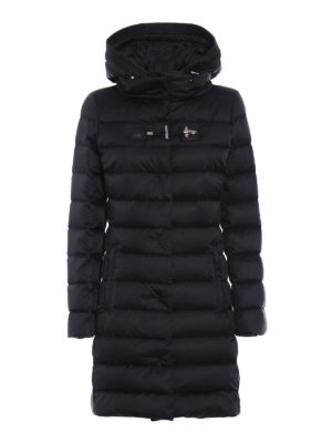 Fay: padded coats - Frog detailed puffer coat