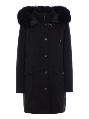 Fay: padded coats - Fur trimmed hood down parka