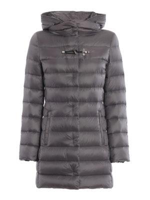 FAY: cappotti imbottiti - Piumino in nylon con cappuccio avvolgente