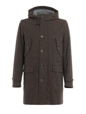 Fay: padded coats - Houndstooth pattern padded coat