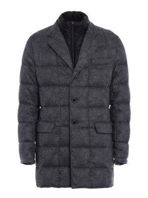 Fay: padded coats - Light padded grey short coat