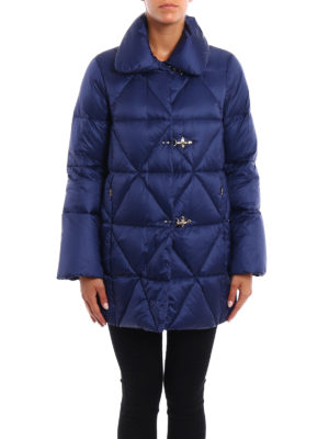 Fay: padded coats online - Argyle quilted padded coat