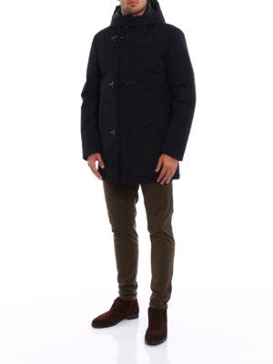 Fay: padded coats online - Coated wool blend duffel coat
