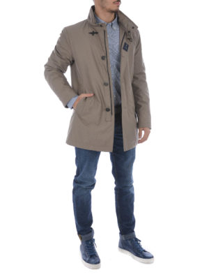 Fay: padded coats online - Cotton blend padded short coat