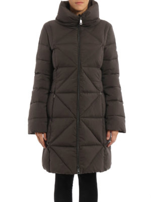 Fay: padded coats online - Diamond quilted padded coat