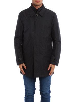 Fay: padded coats online - Double collar nylon padded coat
