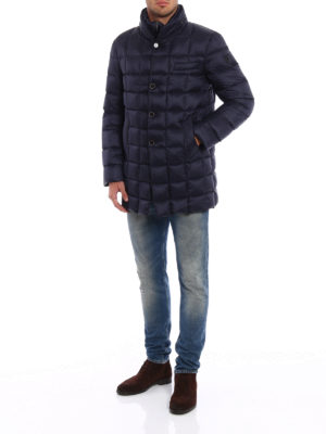 Fay: padded coats online - Double front quilted padded jacket