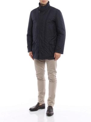Fay: padded coats online - Double-front short padded coat