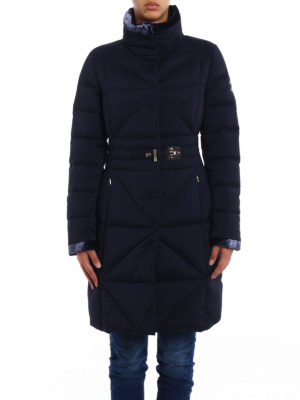 Fay: padded coats online - Frog detail fitted padded coat
