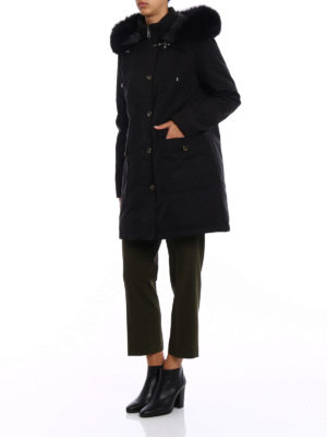 Fay: padded coats online - Fur trimmed hood down parka