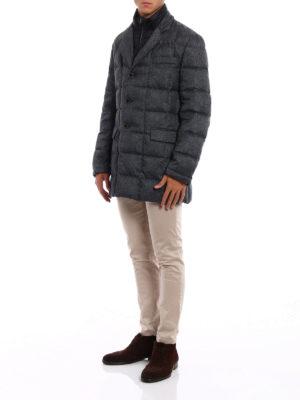 Fay: padded coats online - Light padded grey short coat