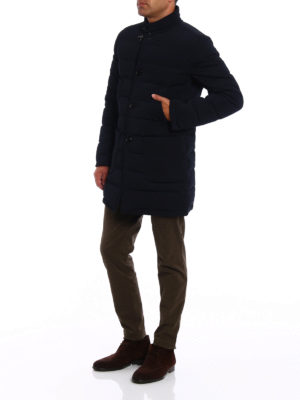 Fay: padded coats online - Stretch techno fabric puffer coat