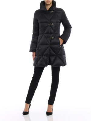 Fay: padded coats online - Technical fabric shaped padded coat