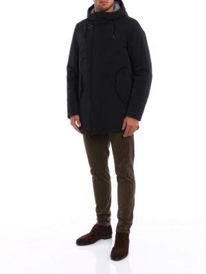 Fay: padded coats online - Techno fabric hooded parka