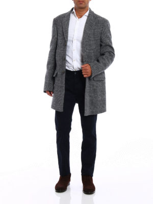 Fay: padded coats online - Wool coat with padded vest