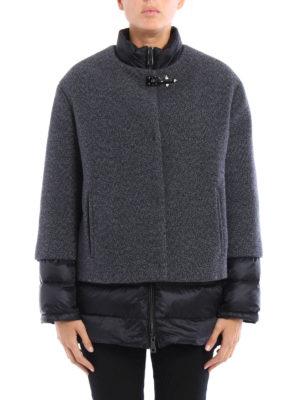 Fay: padded coats online - Wool shell padded short coat