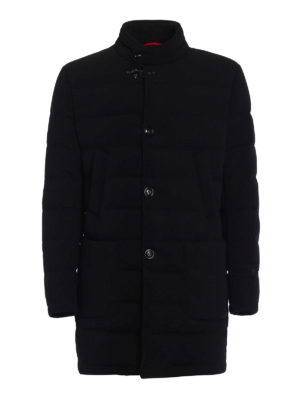 Fay: padded coats - Stretch techno fabric black coat