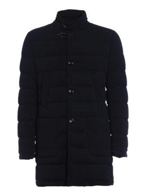 Fay: padded coats - Stretch techno fabric puffer coat