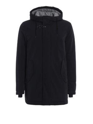 Fay: padded coats - Techno fabric hooded parka