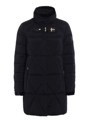 Fay: padded coats - Velvet trimmed quilted coat
