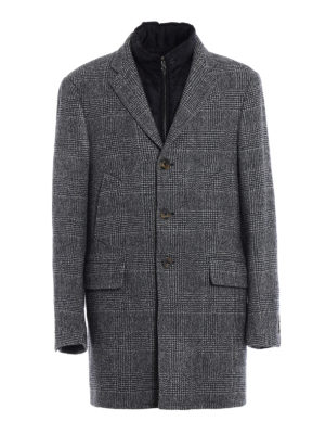 Fay: padded coats - Wool coat with padded vest