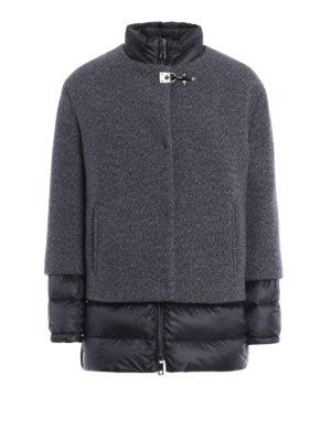 Fay: padded coats - Wool shell padded short coat