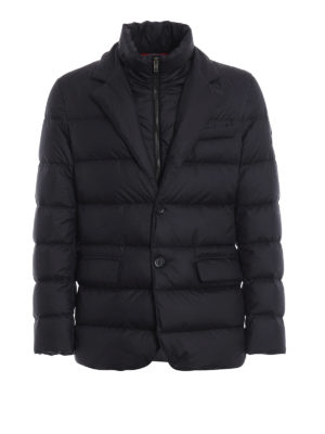 FAY: giacche imbottite - Piumino corto stile blazer blu