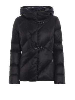 FAY: giacche imbottite - Piumino con cappuccio a contrasto removibile
