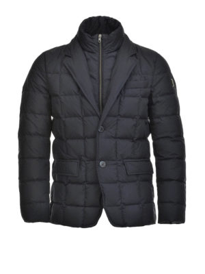 Fay: padded jackets - Double front quilted down jacket