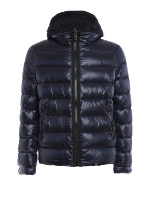 Fay: padded jackets - Double zip hooded padded jacket