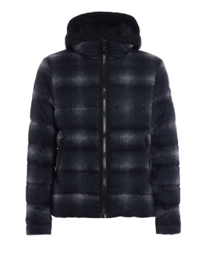 Fay: padded jackets - Houndstooth print puffer jacket