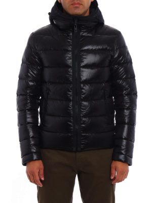 Fay: padded jackets online - Double zip semiglossy jacket