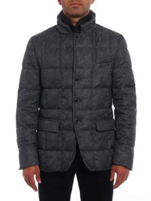 Fay: padded jackets online - Grey melange padded jacket