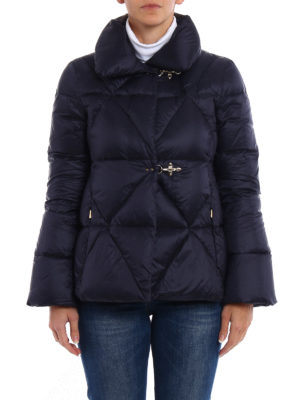 Fay: padded jackets online - Hooks detail quilted padded jacket