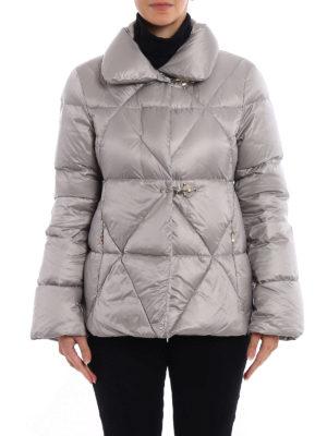 Fay: padded jackets online - Hooks detail shiny padded jacket