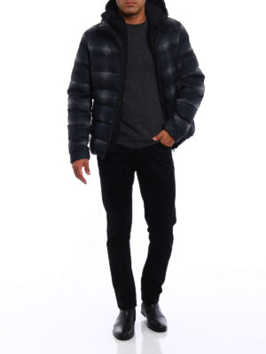 Fay: padded jackets online - Houndstooth print puffer jacket