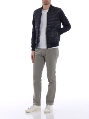 Fay: padded jackets online - Jersey sleeve down jacket