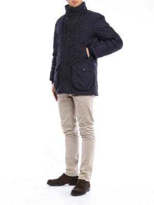 Fay: padded jackets online - Nylon field jacket with waistcoat