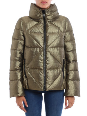 Fay: padded jackets online - Quilted padded metallic jacket