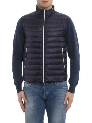 Fay: padded jackets online - Sleeveless slightly padded jacket