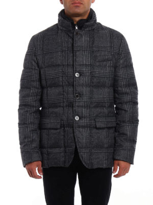 Fay: padded jackets online - Techno Prince of Wales down jacket