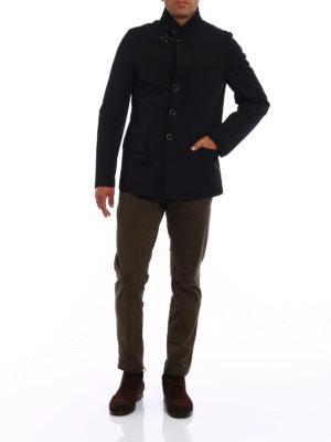 Fay: padded jackets online - Urban techno black jacket