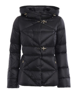 Fay: padded jackets - Quilted padded hooded jacket