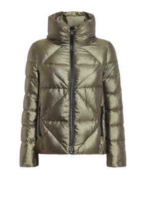 Fay: padded jackets - Quilted padded metallic jacket