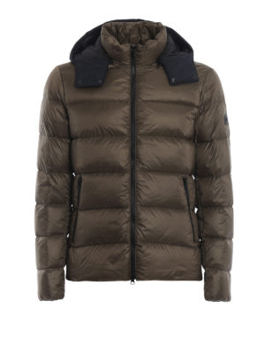 FAY: giacche imbottite - Piumino con cappuccio a contrasto staccabile